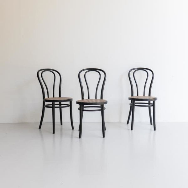 Black Cane Seat Thonet Chair - furniture