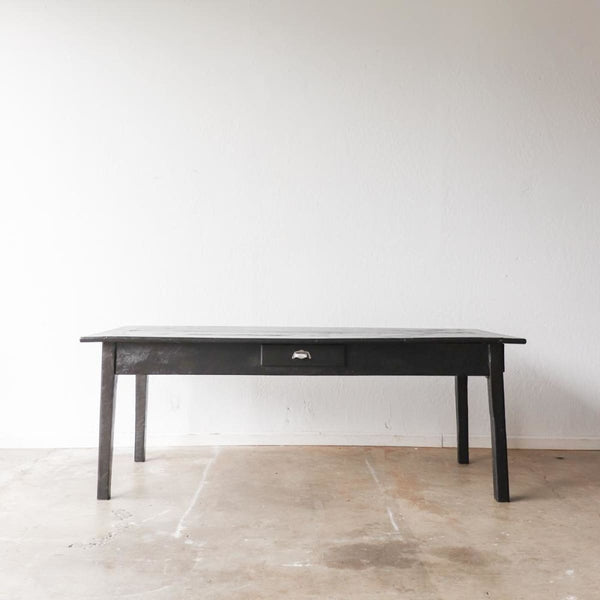 Black Vintage Farm Table - furniture