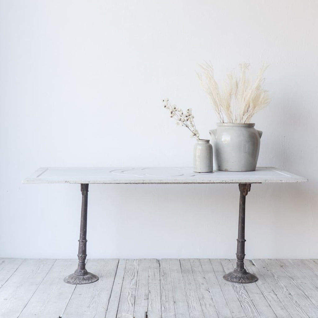 Carved Marble Bistro Table - furniture