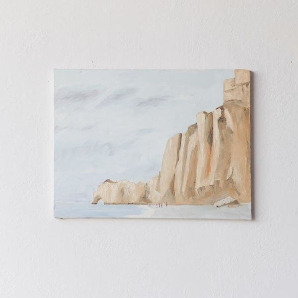 Cliffs at the Beach Oil Painting - decor