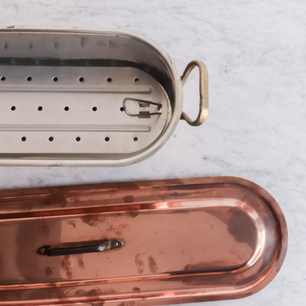 Copper Poacher with Lid - The French Kitchen
