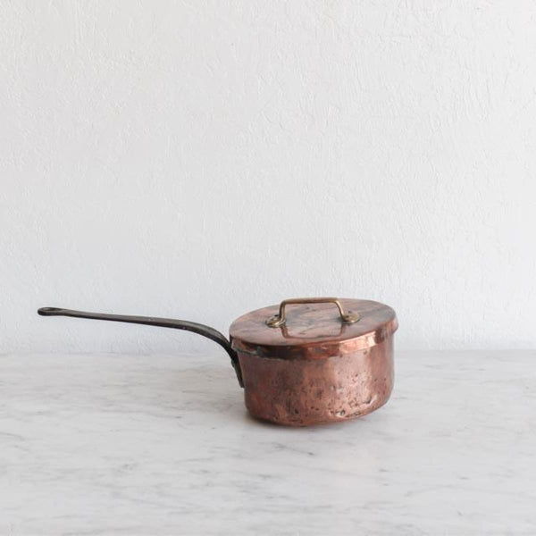Copper Saucier with Lid - the french kitchen