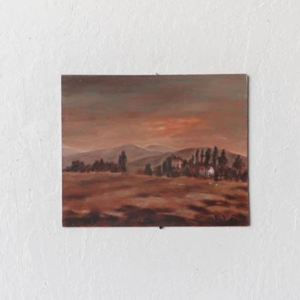 Countryside Sunset Oil Painting - decor
