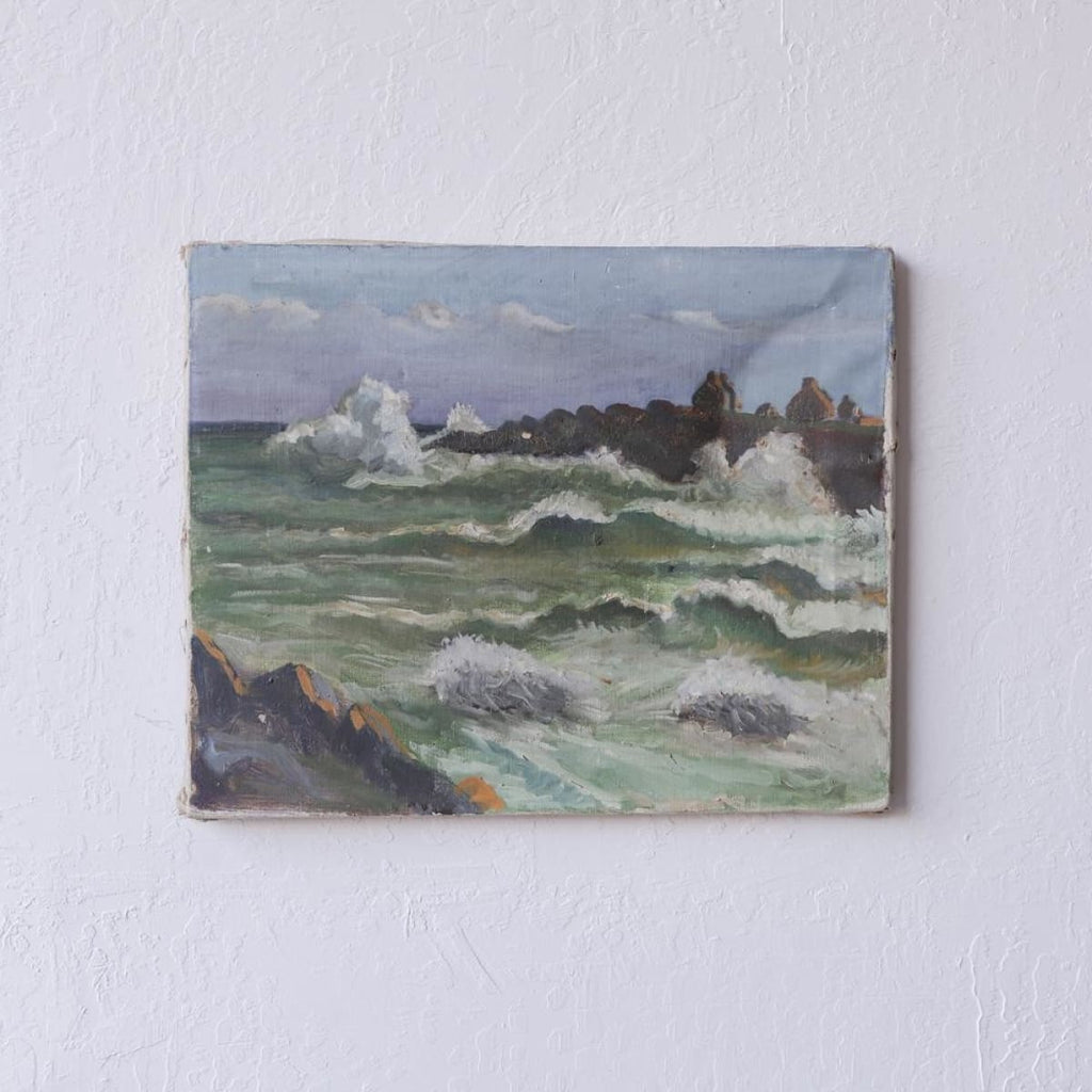 Crashing Waves Oil Painting - Décor
