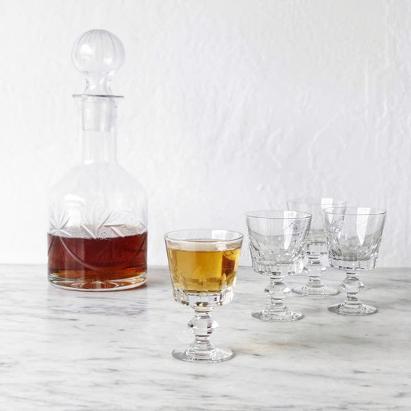 Cut Glass Bar Set - the french kitchen