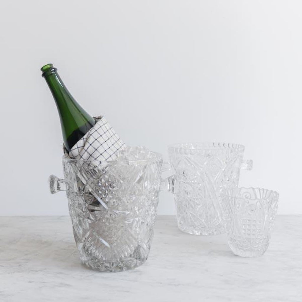 Cut Glass Ice Bucket - the french kitchen