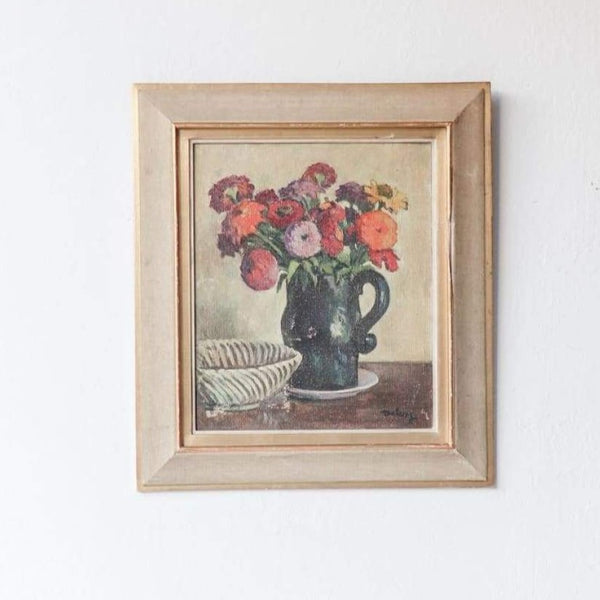 Floral in Green Pitcher Painting - decor