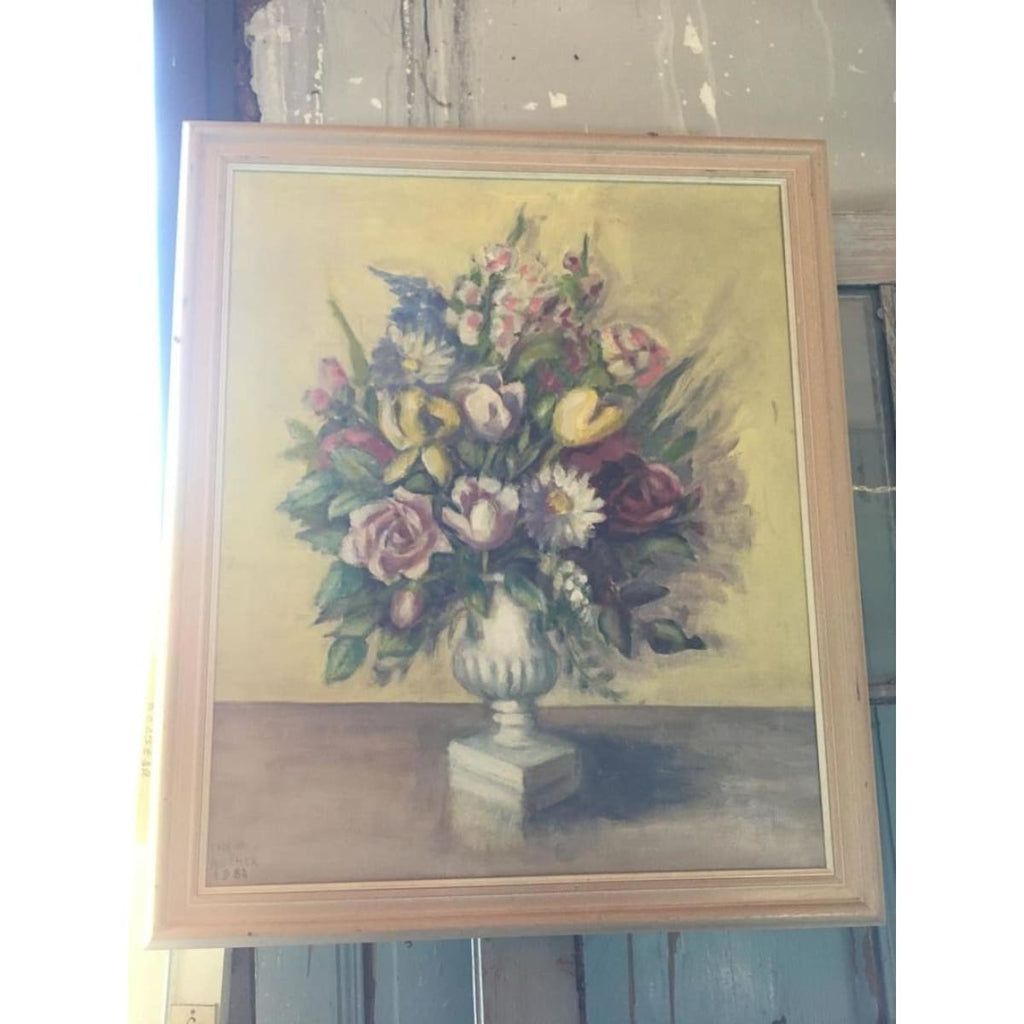 Floral Still Life in Medici Oil Painting