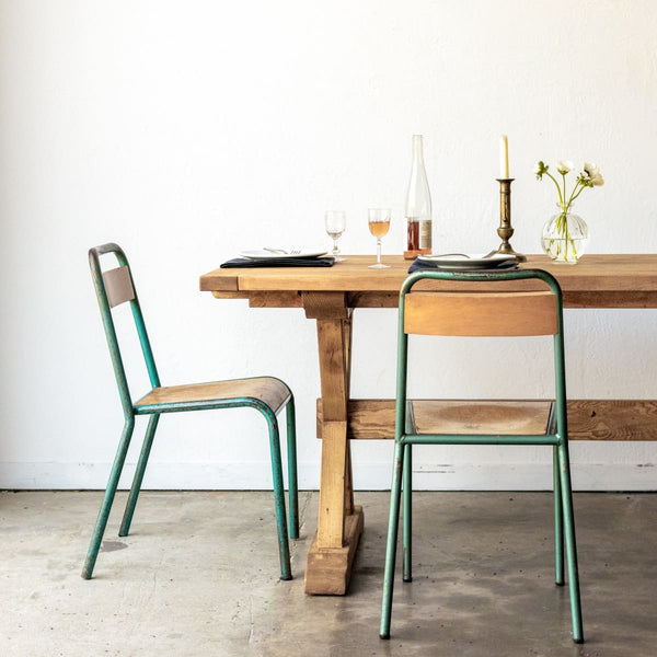 Forager Reclaimed Wood Farm Table | Slim Edition - custom furniture