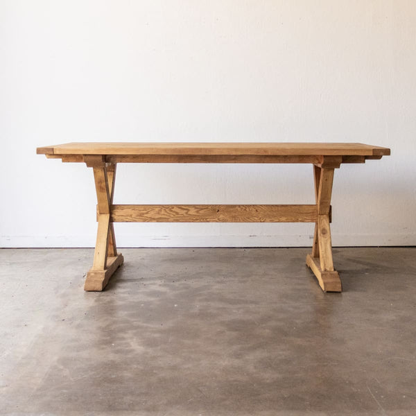 Forager Reclaimed Wood Farm Table | Slim Edition - FIXED TABLE 78 / WAXED PINE - custom furniture