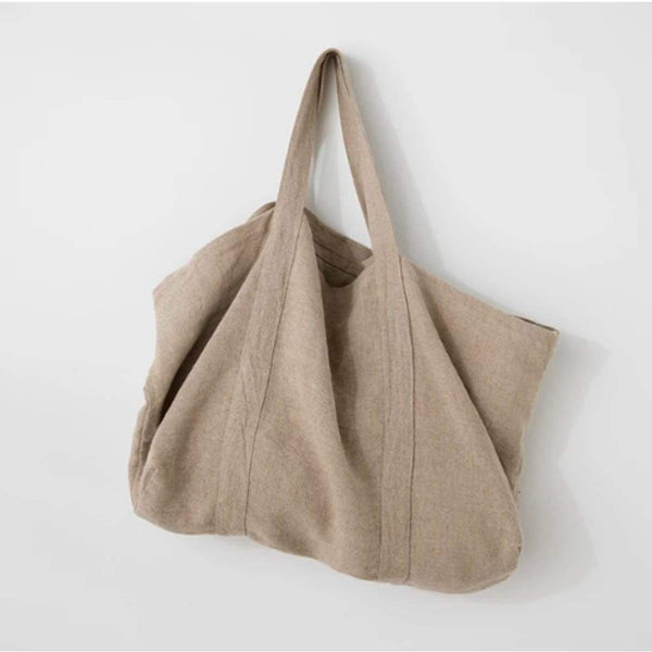 linen tote bag - decor