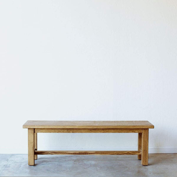 French Reclaimed Wood Farm Bench - elsie green