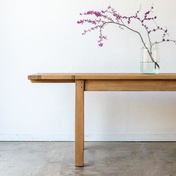 French Inspired Reclaimed Wood Farm Table | Slim Edition - custom furniture
