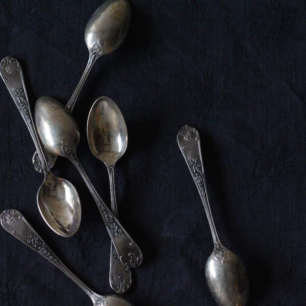 French Silver Teaspoons Set Of 6 - elsie green
