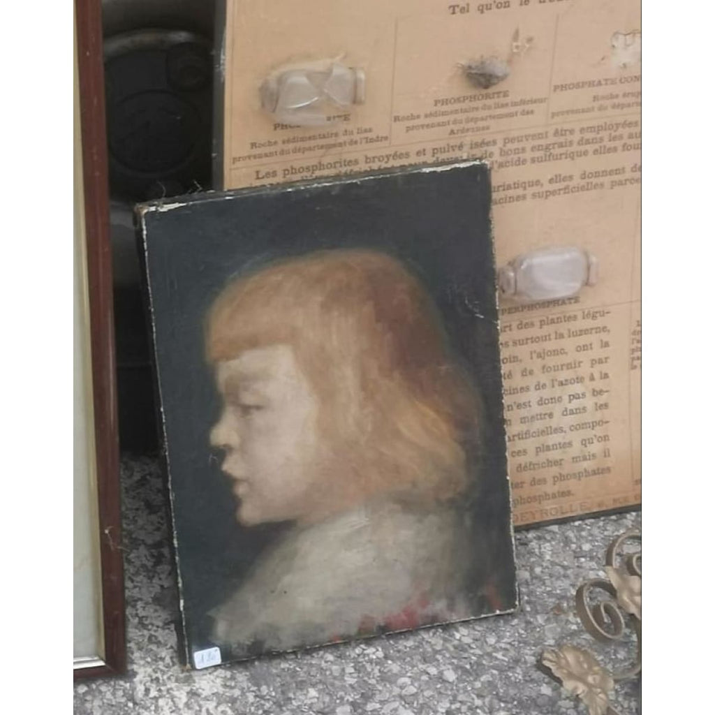 Girl's portrait oil painting - Décor