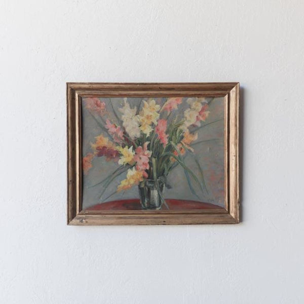Gladiolus in Vase Oil Painting - decor