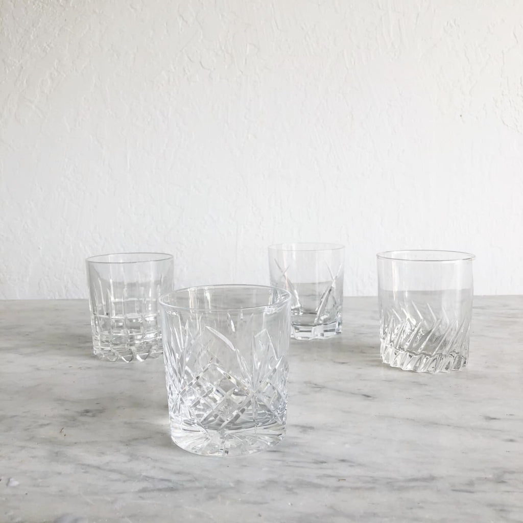 Glamorous Vintage Bar Glass Set of 4 - the french kitchen