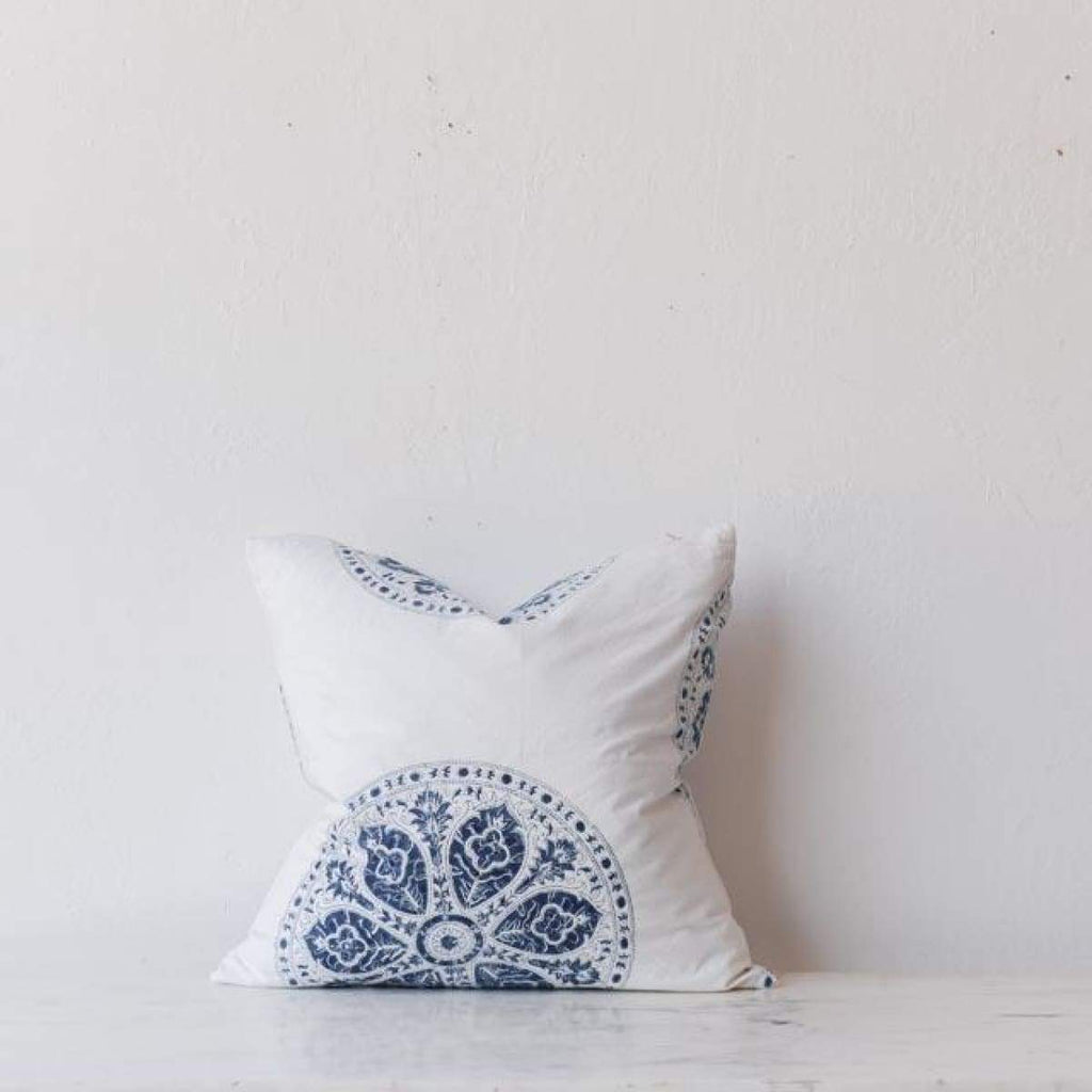 Hand Block Printed Pillow Cover - Textiles