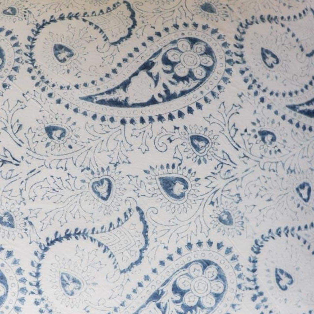 Hand Block Printed Pillow Cover - Paisley - Textiles