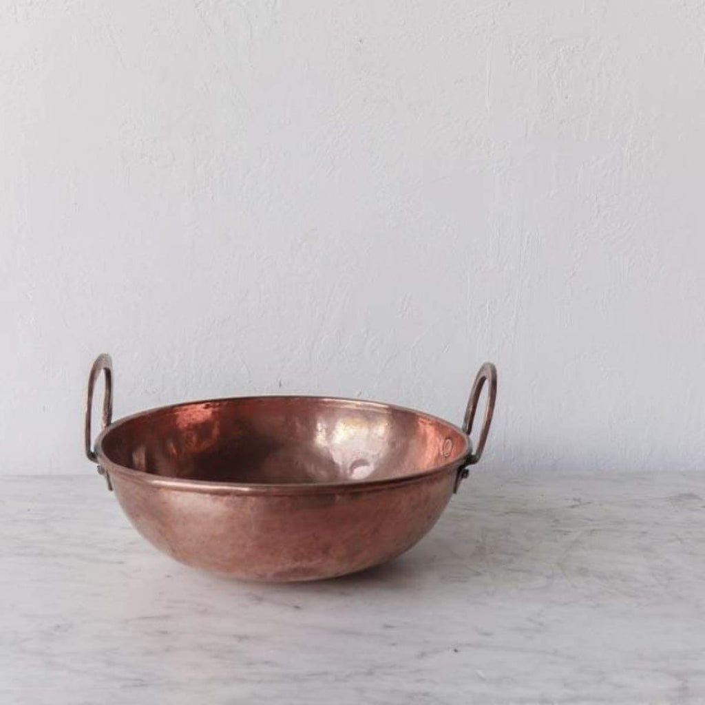 Hand Made Vintage Copper Mixing Bowl - the french kitchen
