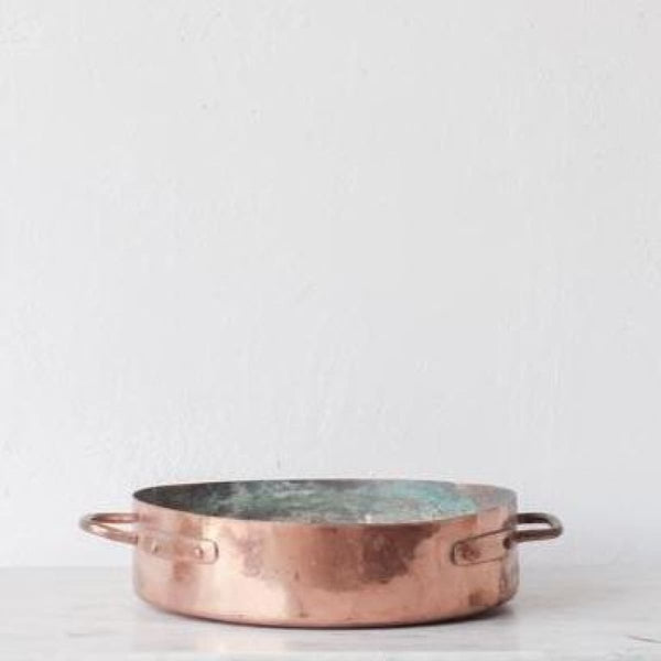 Hand Made Vintage Copper Roasting Pan - the french kitchen