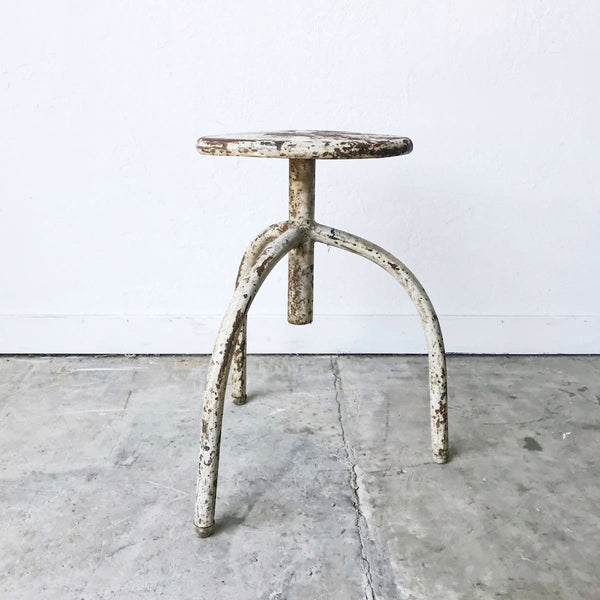 Iron Industrial Stool - Furniture
