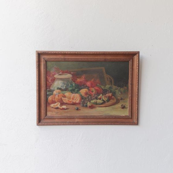 Kitchen Still Life with Citrus Oil Painting - Decor