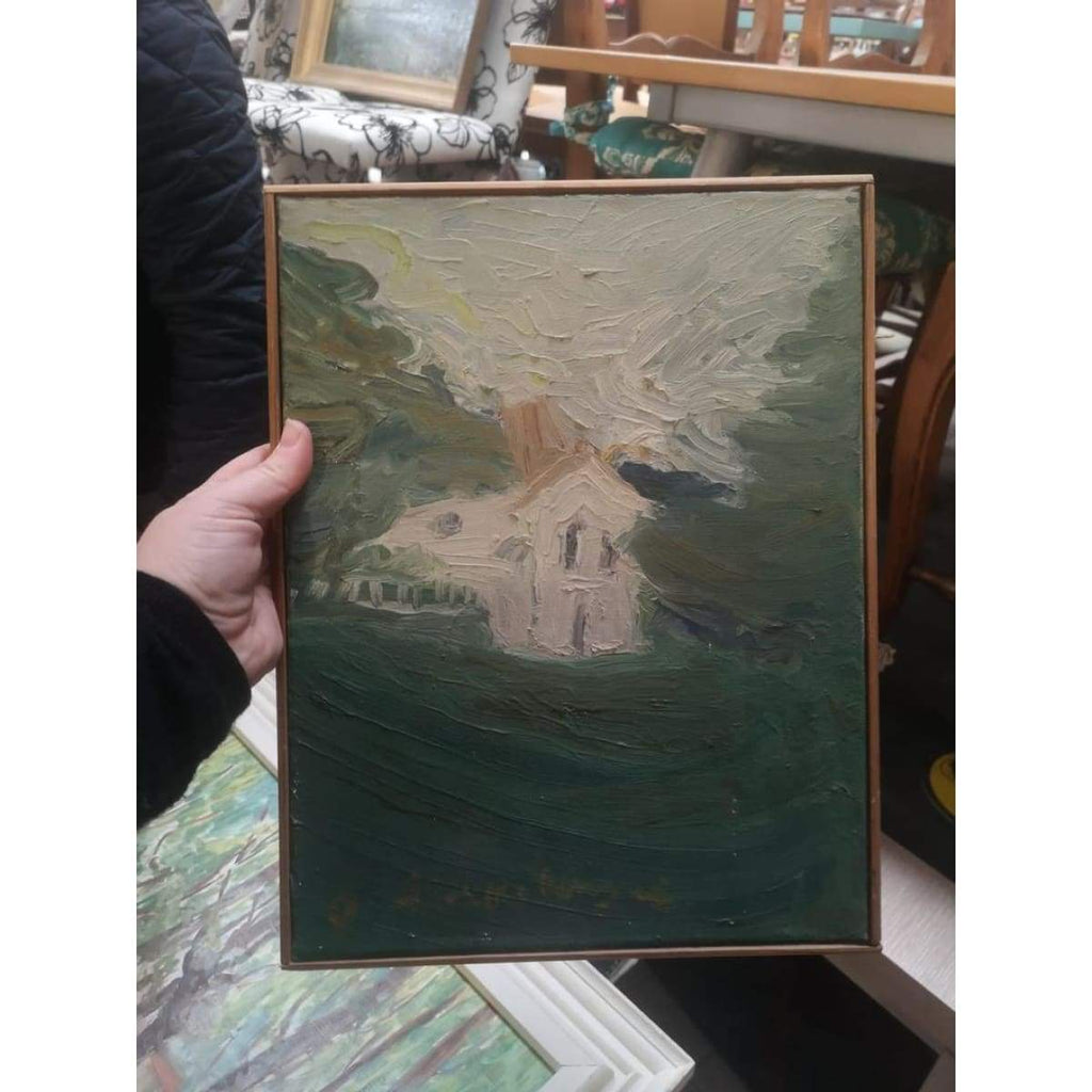 La Maison Blanche Oil painting - Décor