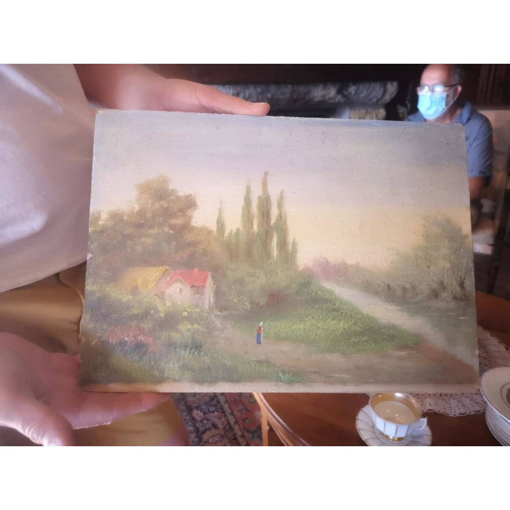 Landscape with Lone Figure Oil Painting