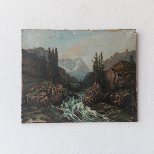 Landscape with Roaring River Oil Painting - Decor