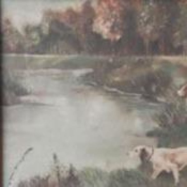 Landscape with Water Dogs Painting - decor