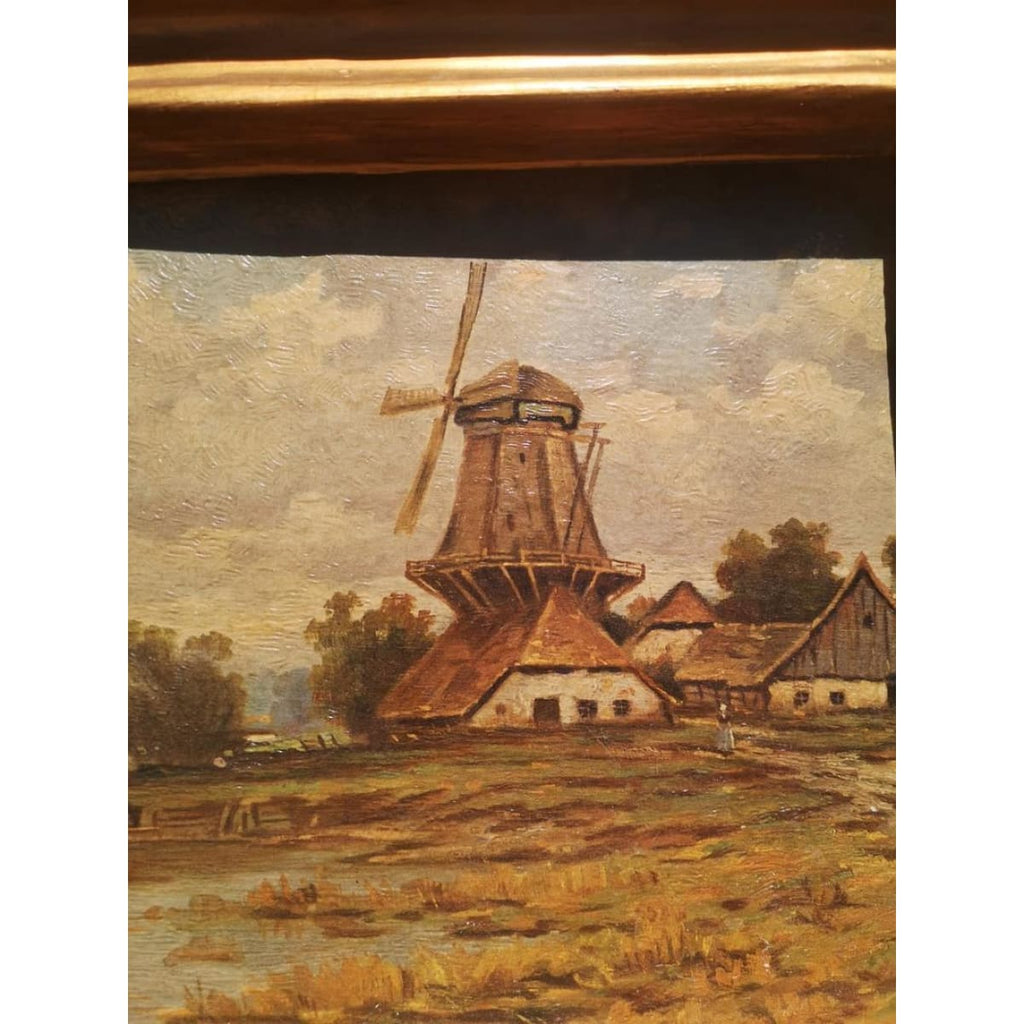 Landscape with Windmill Oil Painting