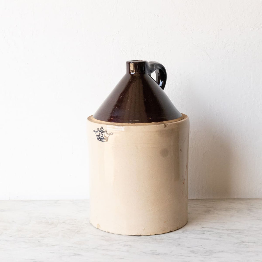 Large Stamped Stoneware Jug - decor