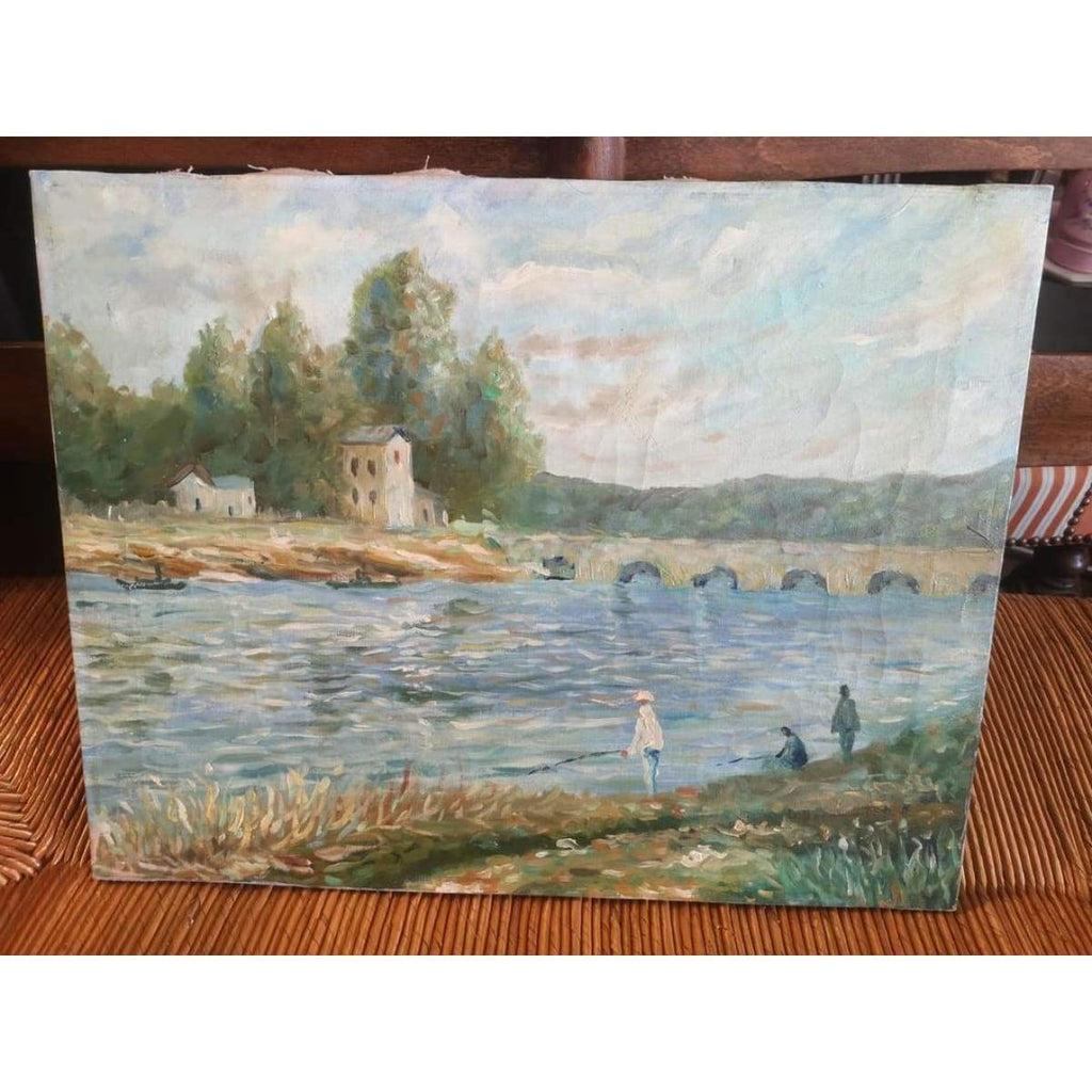 Le Bord du Lot Landscape Oil Painting