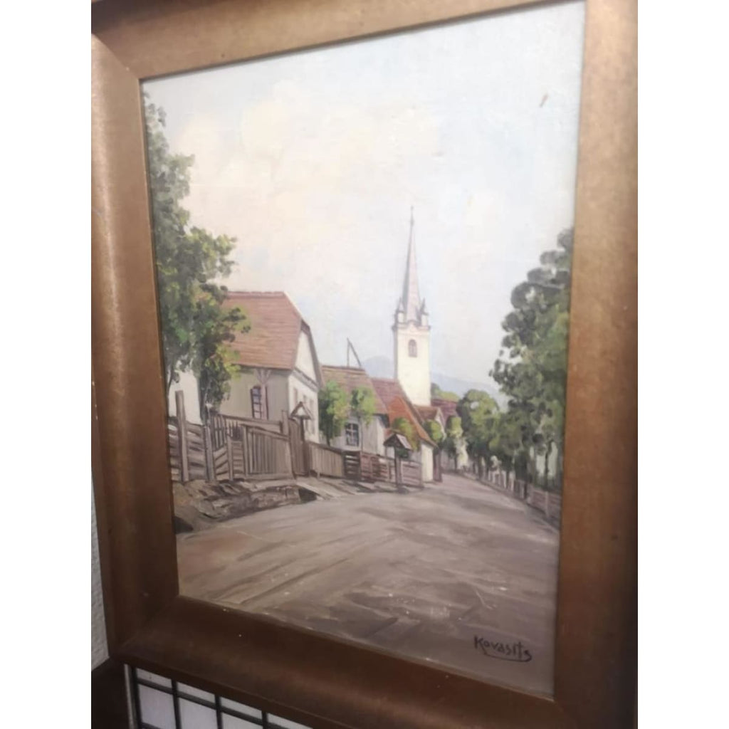 Le Village en Alsace Oil Painting
