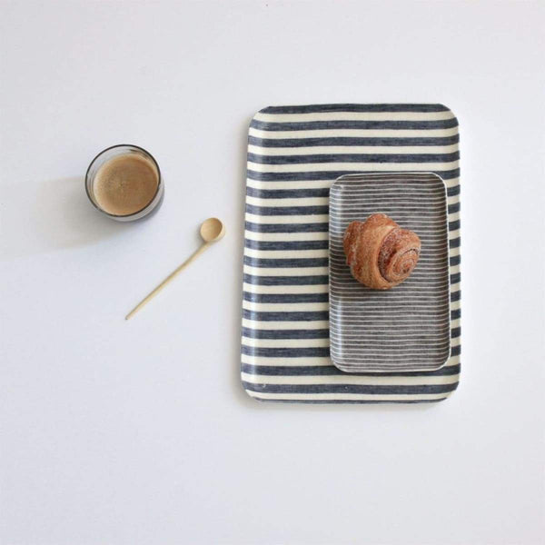 Linen Coated Tray - elsie green