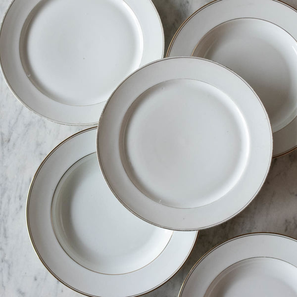 Not Your Grandma's Gold Rim China Set Of 4 - the french kitchen