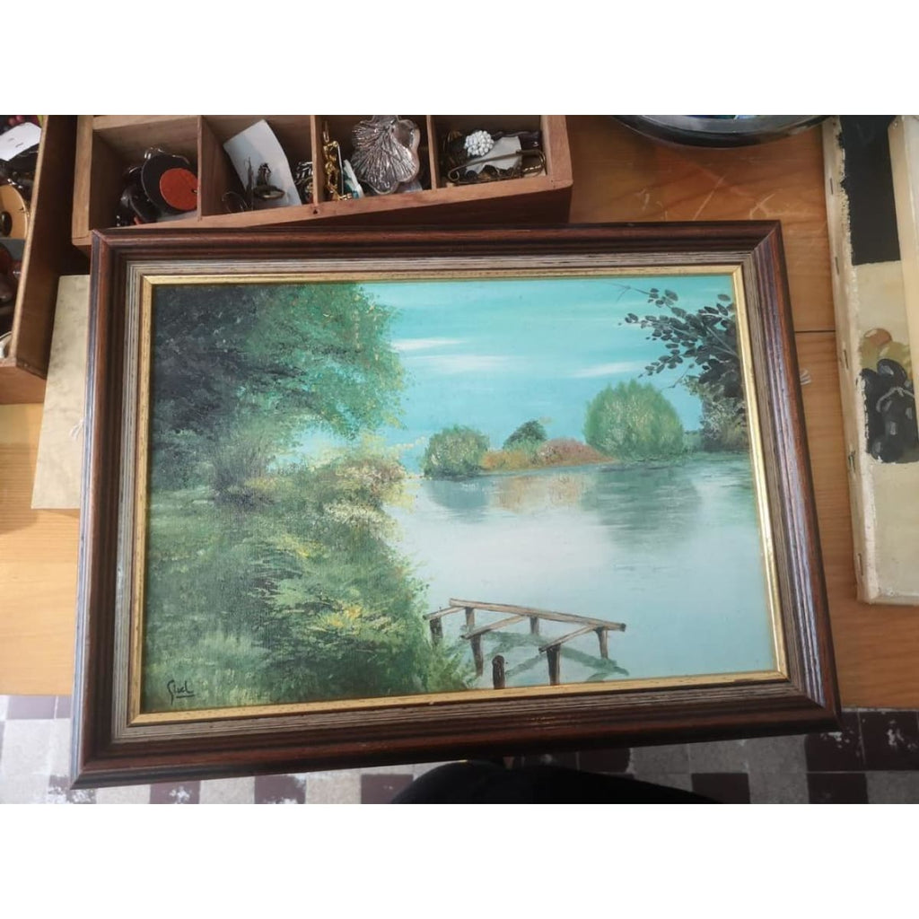 On the Pond Oil Painting - Décor