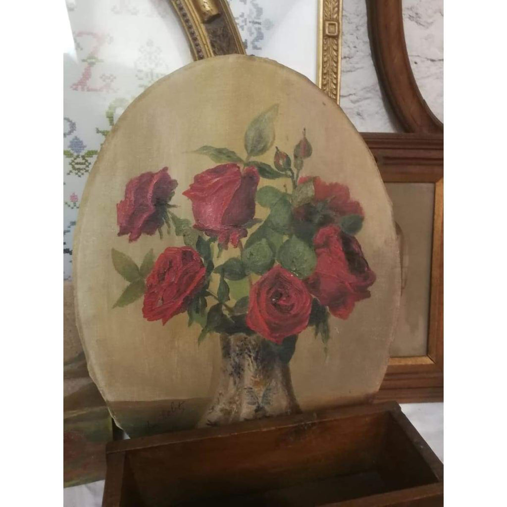 Oval Floral Still Life Oil Painting