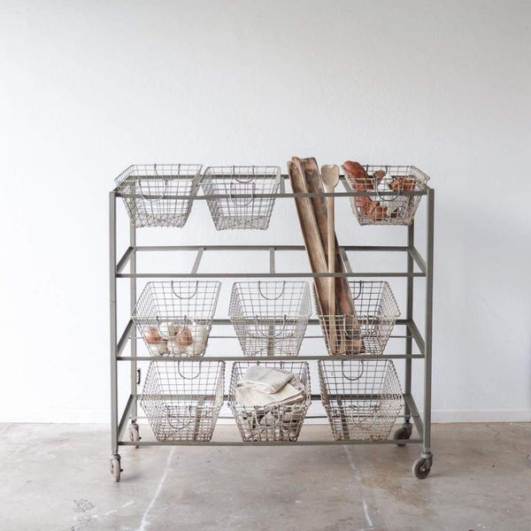 Oyster Basket Trolley - elsie green