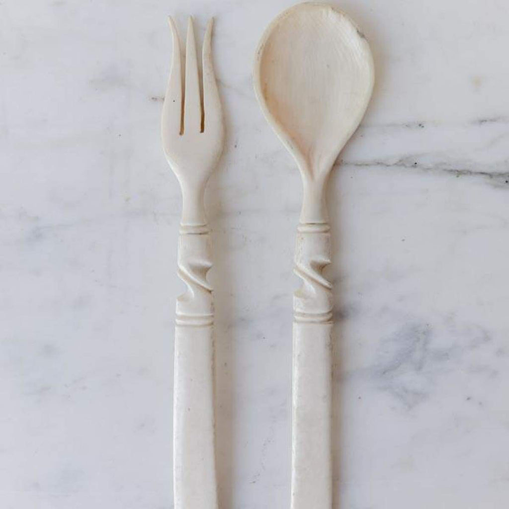 Pair of Bone Servers - The French Kitchen