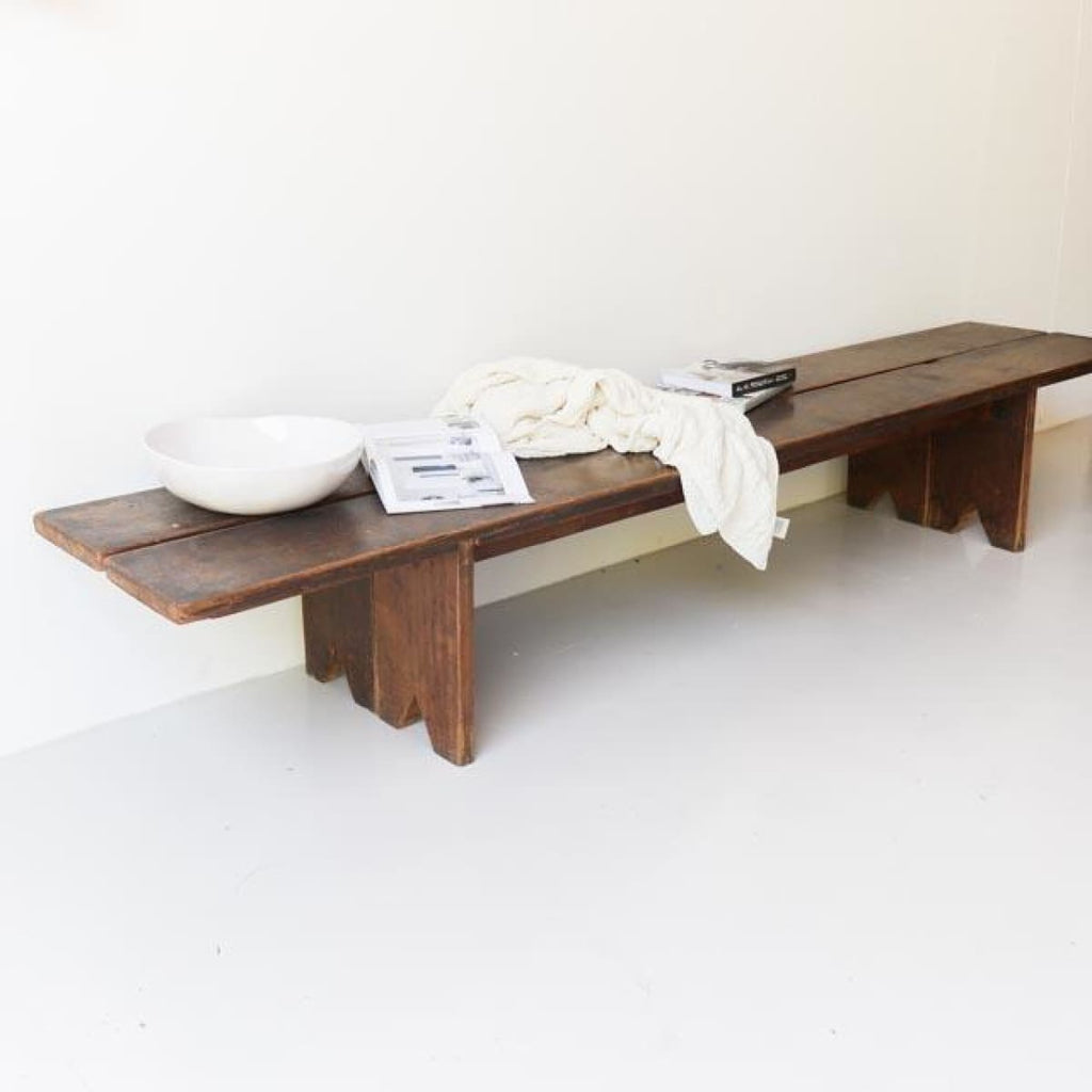 Pair of Long Farm Benches - furniture