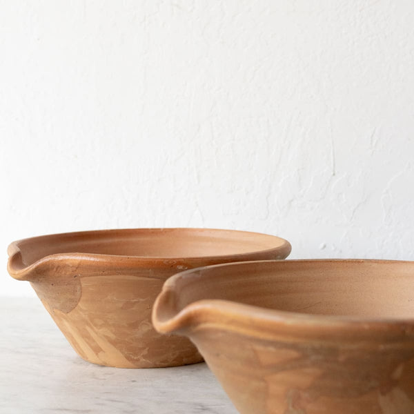 Pair of Vintage Stoneware Bowls - the french kitchen
