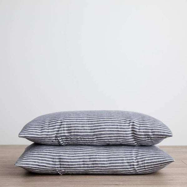 Pair of Washed Linen Pillowcases - elsie green