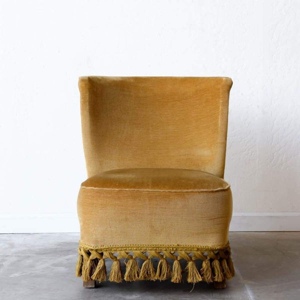 Petite Velvet Chair - elsie green