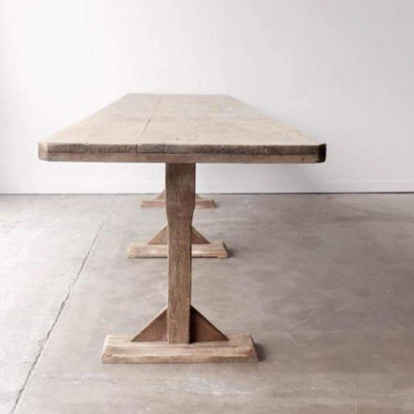 Pine Sawhorse Table - furniture