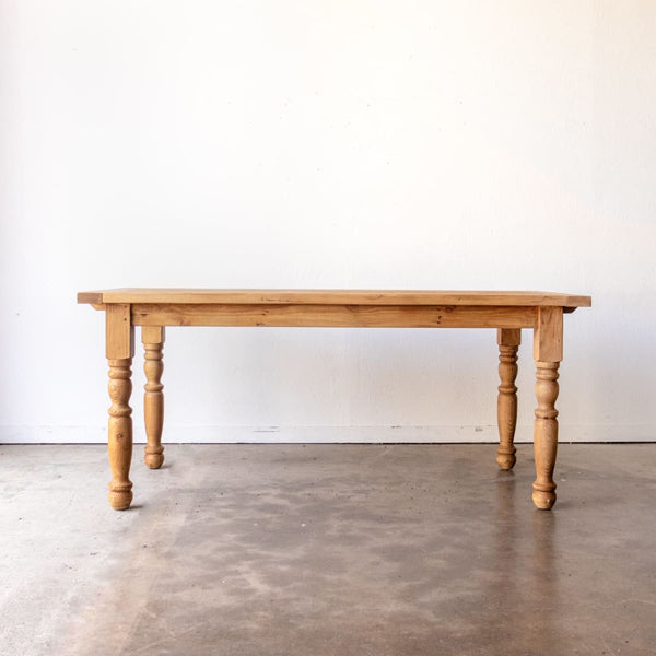 Reclaimed Wood Farm Table | Slim Edition - custom furniture
