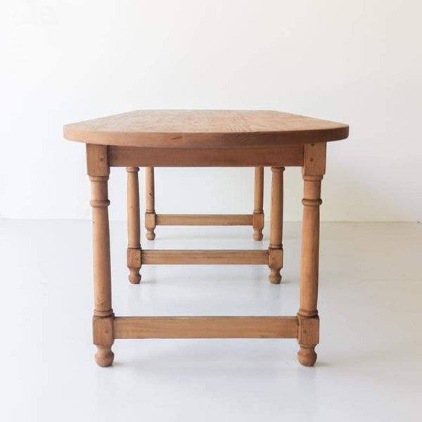 Reclaimed Wood Oval Farm Table - furniture