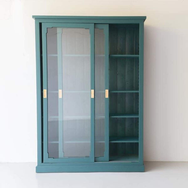 Reclaimed Wood Sliding Door Cabinet - furniture