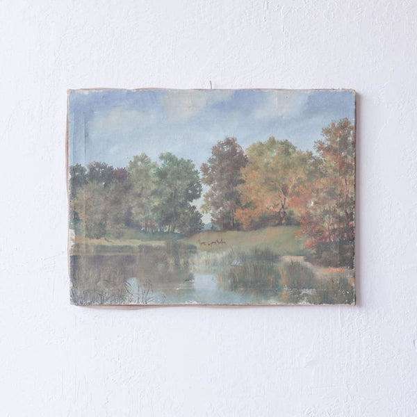 Reflecting Trees Oil Painting - decor